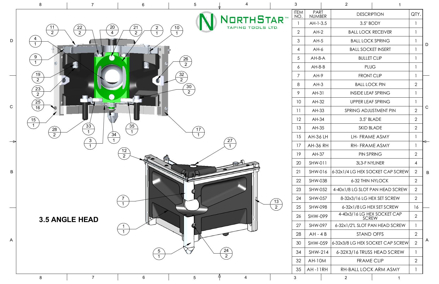 northstar angle head parts