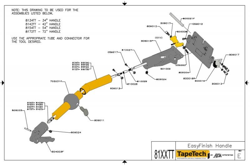 tapetech box handle parts